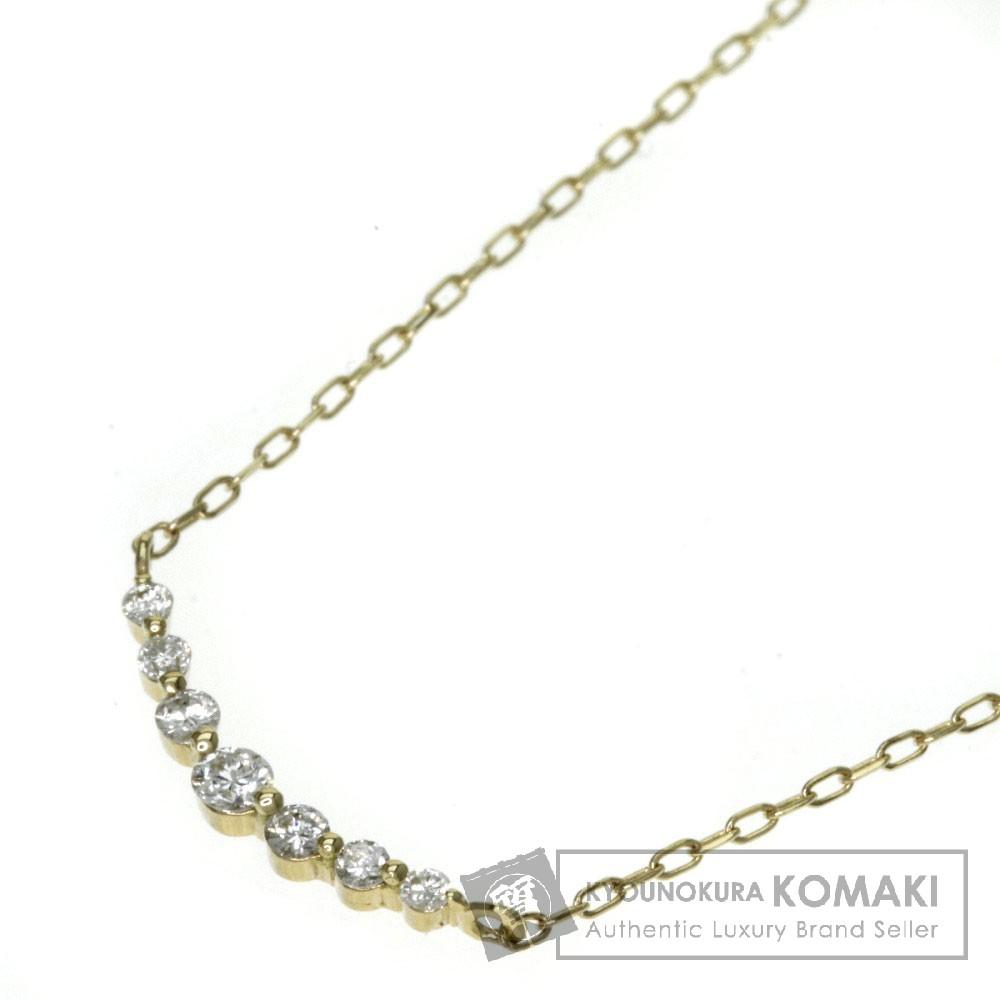 0.10ct ダイヤモンド ネックレス K18イエローゴールド 1.2g レディース 【中古】