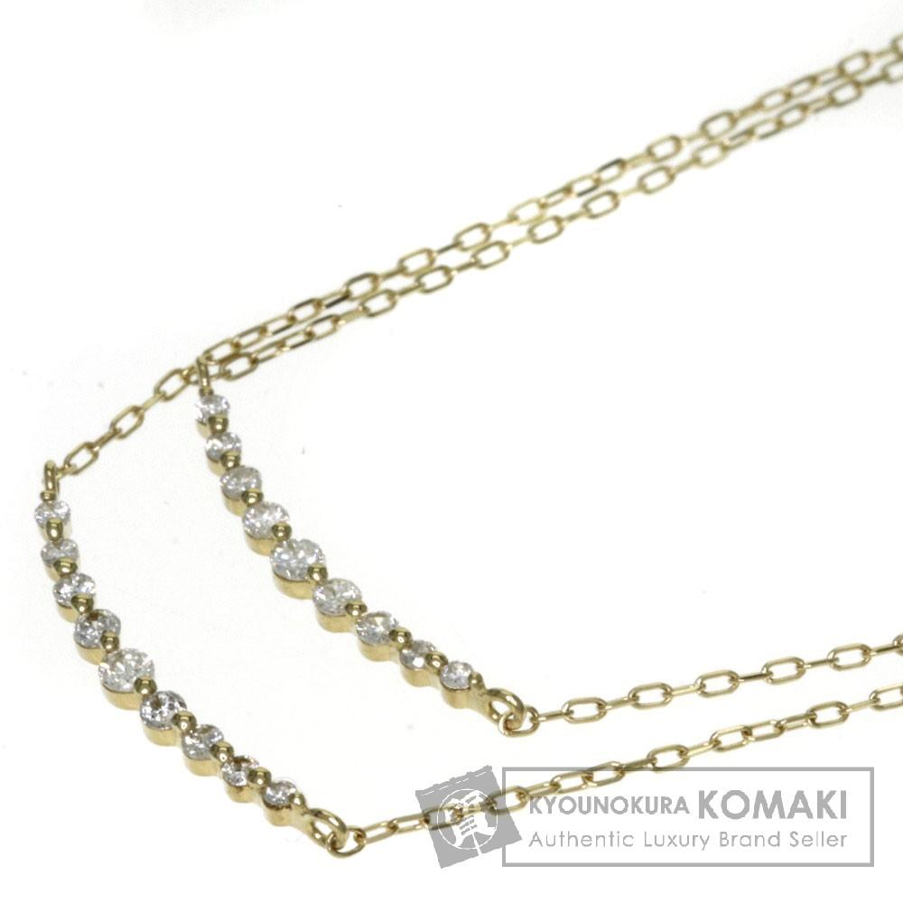 0.22ct ダイヤモンド ネックレス K18イエローゴールド 1.6g レディース 【中古】