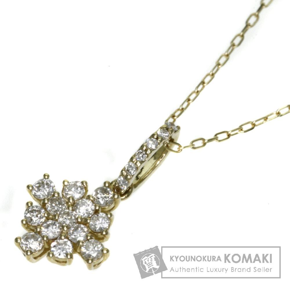 0.30ct ダイヤモンド ネックレス K18イエローゴールド 1.6g レディース 【中古】