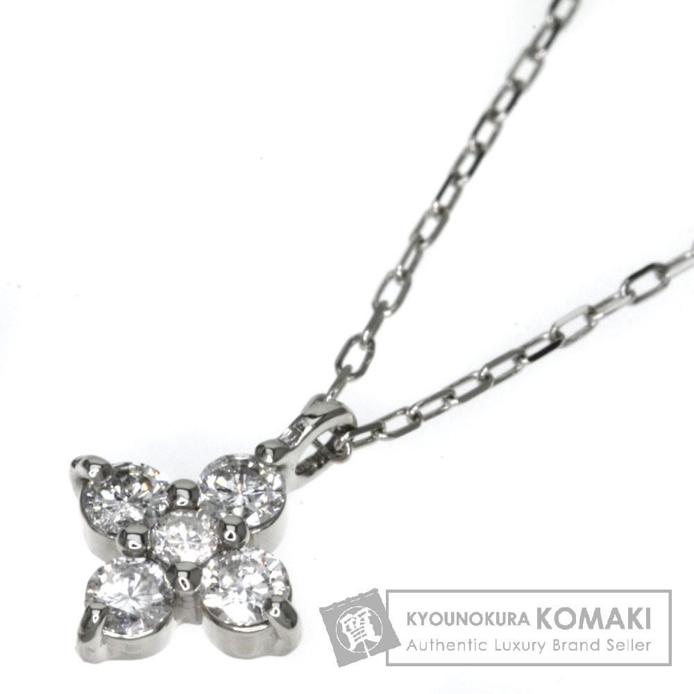 0.19ct ダイヤモンド ネックレス プラチナPT900/PT850 1.6g レディース 【中古】