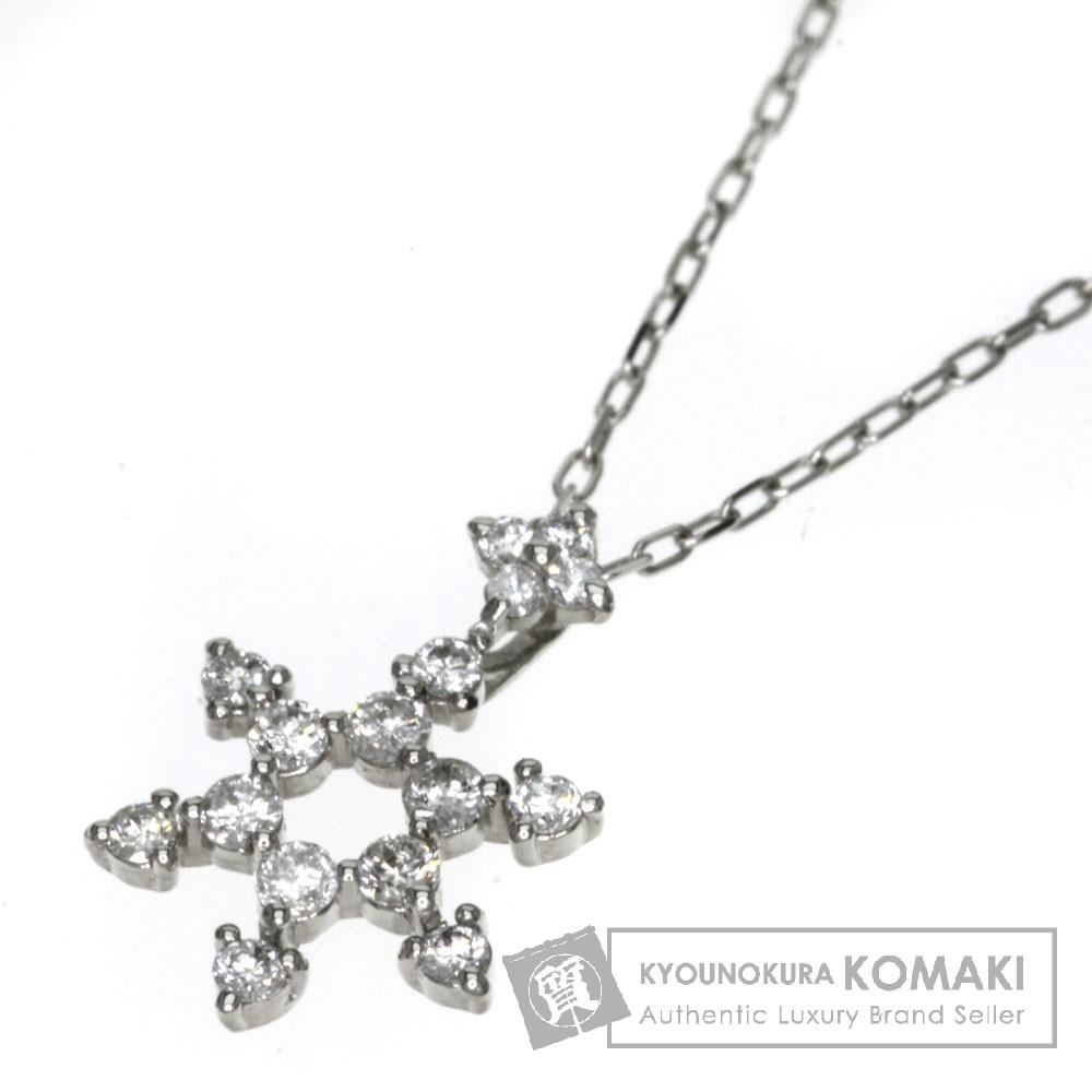 0.18ct ダイヤモンド ネックレス プラチナPT900/PT850 1.6g レディース 【中古】