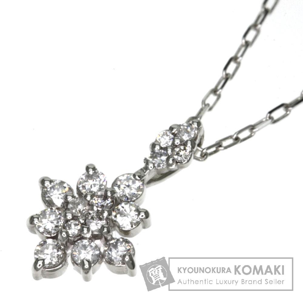 0.15ct ダイヤモンド ネックレス プラチナPT900/PT850 1.6g レディース 【中古】