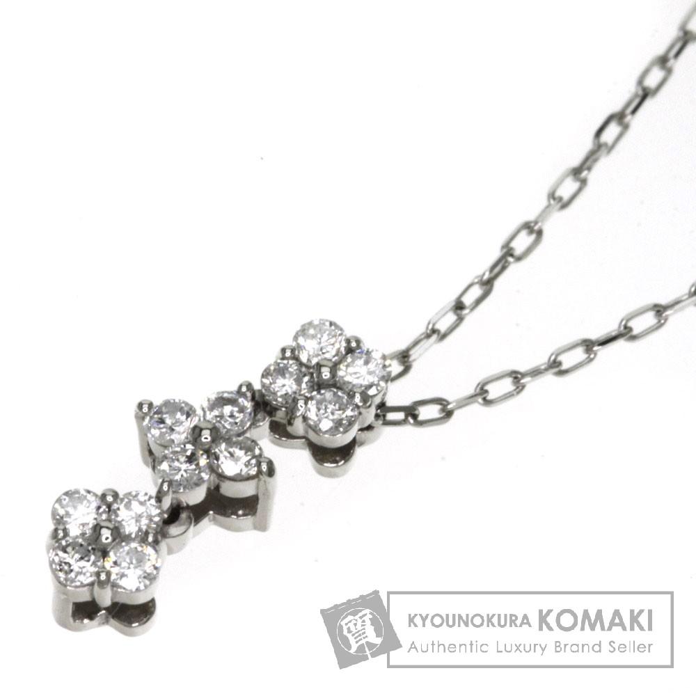 0.17ct ダイヤモンド ネックレス プラチナPT900/PT850 1.7g レディース 【中古】