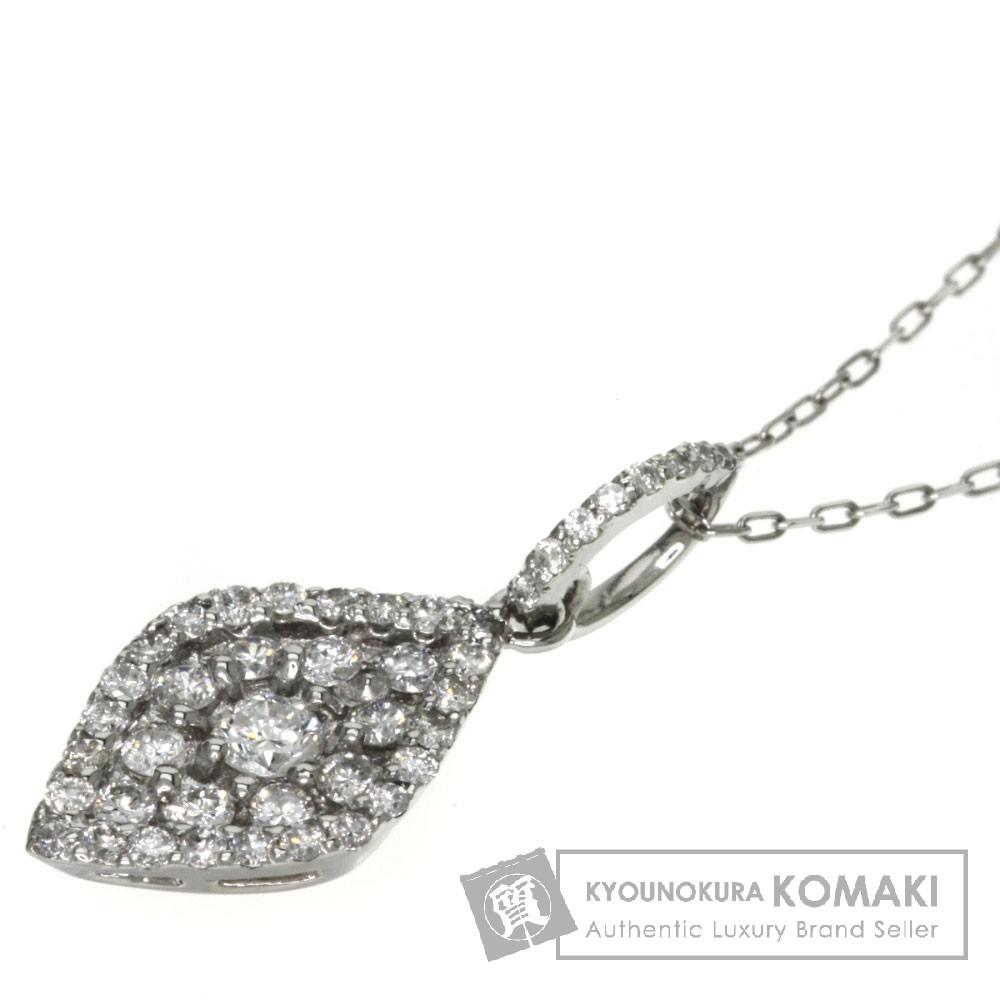 0.47ct ダイヤモンド ネックレス プラチナPT900/PT850 2.9g レディース 【中古】