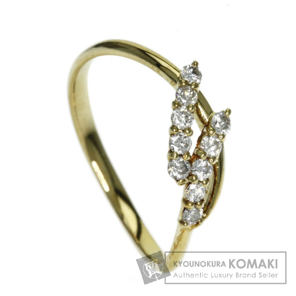 0.21ct ダイヤモンド リング・指輪 K18イエローゴールド 1.2g レディース 【中古】