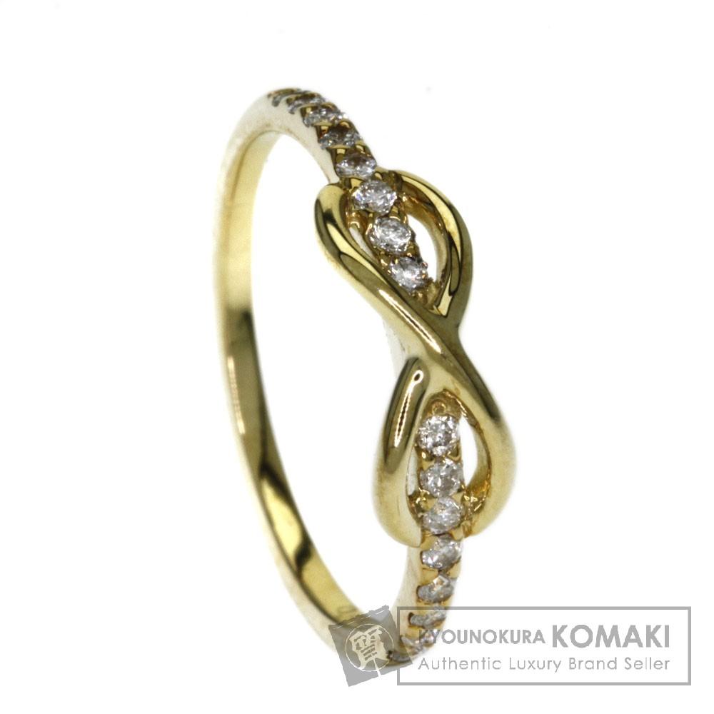 0.21ct ダイヤモンド リング・指輪 K18イエローゴールド 1.8g レディース 【中古】