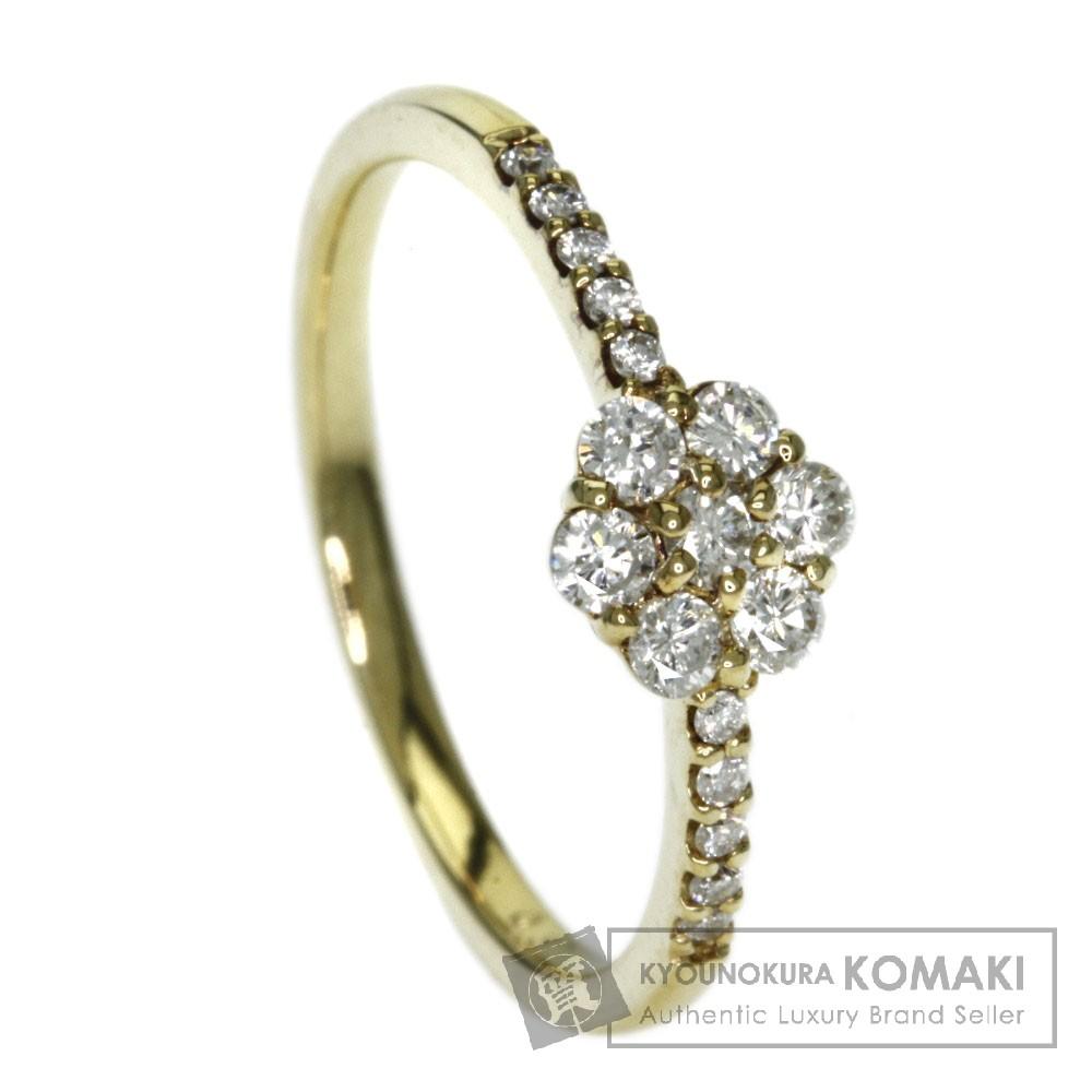 0.31ct ダイヤモンド リング・指輪 K18イエローゴールド 1.7g レディース 【中古】