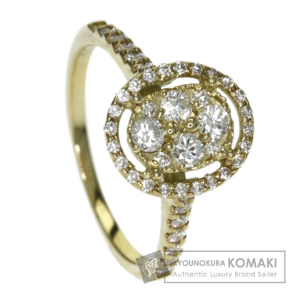 0.54ct ダイヤモンド リング・指輪 K18イエローゴールド 2.5g レディース 【中古】