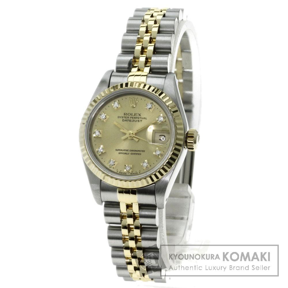 ROLEX 69173G デイトジャスト 腕時計 K18イエローゴールド/SS レディース 【中古】【ロレックス】