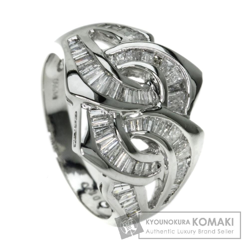 1.00ct ダイヤモンド リング・指輪 プラチナPT900 6.8g レディース 【中古】
