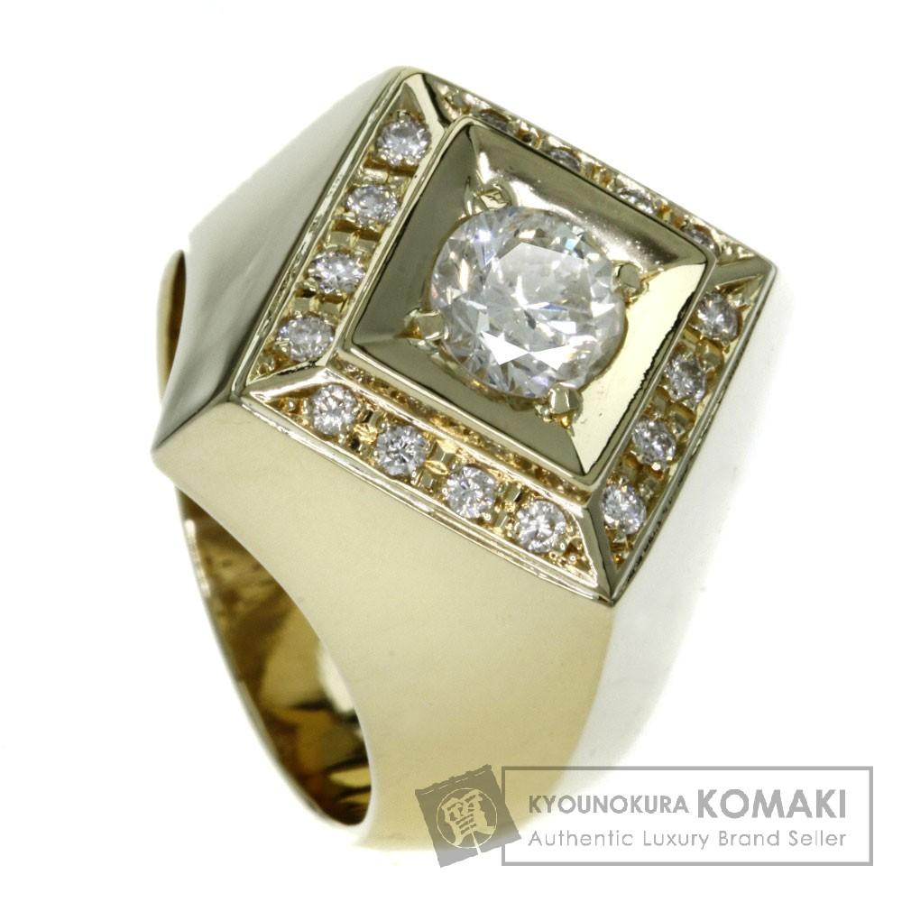 0.95ct ダイヤモンド リング・指輪 K18イエローゴールド 20.2g レディース 【中古】