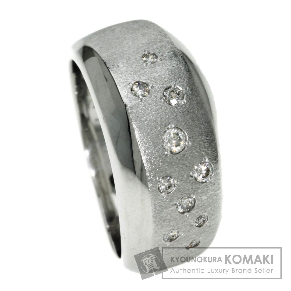 0.18ct ダイヤモンド リング・指輪 K18ホワイトゴールド 10g レディース 【中古】