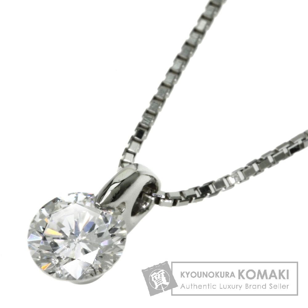 0.695ct ダイヤモンド ネックレス プラチナPT850/Pt900 3.8g レディース 【中古】