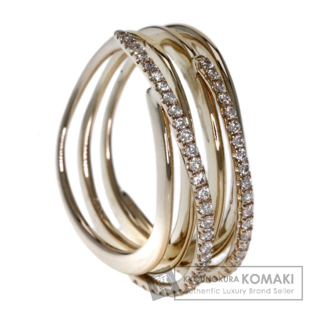 0.35ct ダイヤモンド リング・指輪 K18ピンクゴールド 5.1g レディース 【中古】