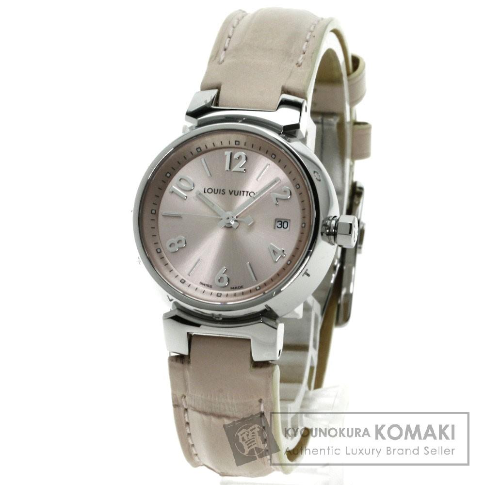 LOUIS VUITTON Q121X タンブール 腕時計 ステンレス/アリゲーター レディース 【中古】【ルイ・ヴィトン】