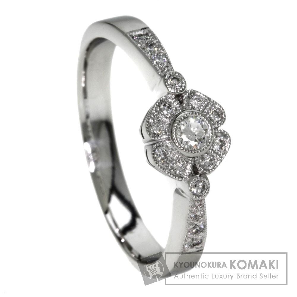 0.11ct ダイヤモンド リング・指輪 プラチナPT950 6.9g レディース 【中古】