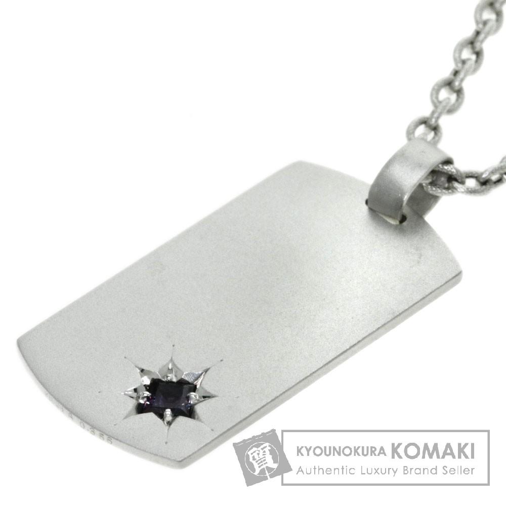 0.356ct アレキサンドライト/ダイヤモンド ネックレス K18ホワイトゴールド 22.8g レディース 【中古】