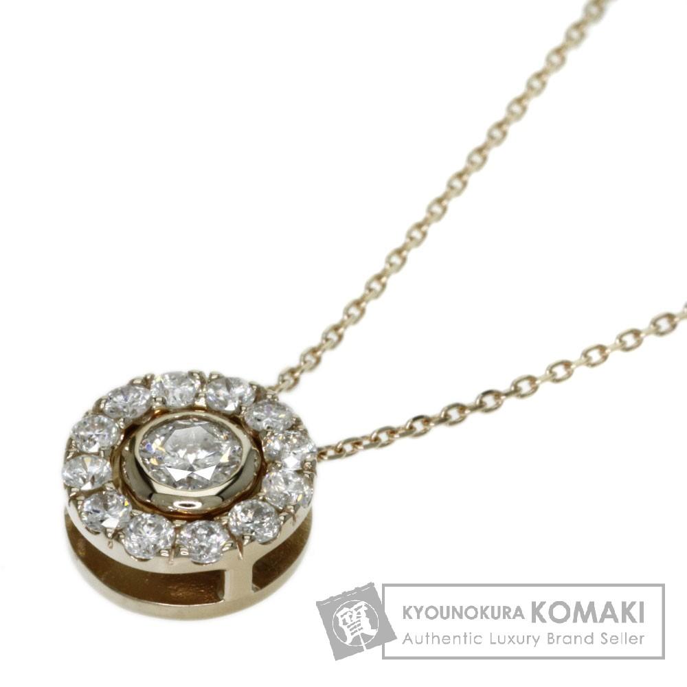 0.50ct ダイヤモンド ネックレス K18ピンクゴールド 3.1g レディース 【中古】