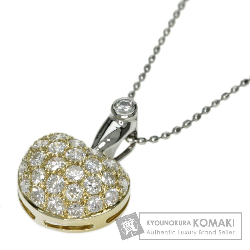 0.68ct ダイヤモンド ネックレス K18イエローゴールド/Pt900 3.3g レディース 【中古】