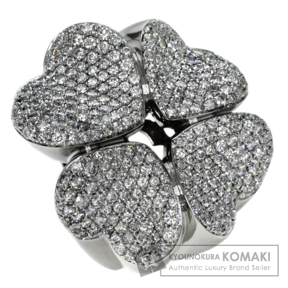 3.65ct ダイヤモンド パスクワブルーニ リング・指輪 K18ホワイトゴールド 42g レディース 【中古】