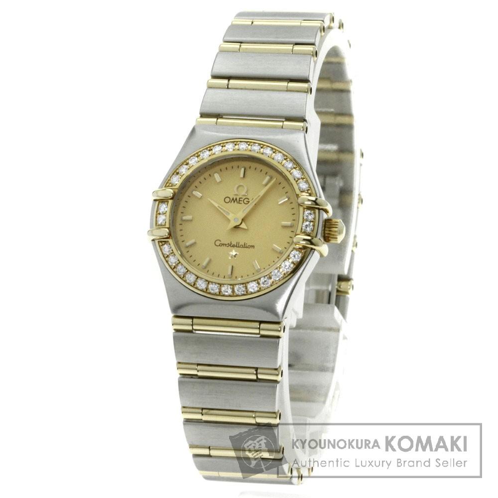 OMEGA 1267-10 コンステレーション ダイヤモンド 腕時計 K18イエローゴールド/SS レディース 【中古】【オメガ】