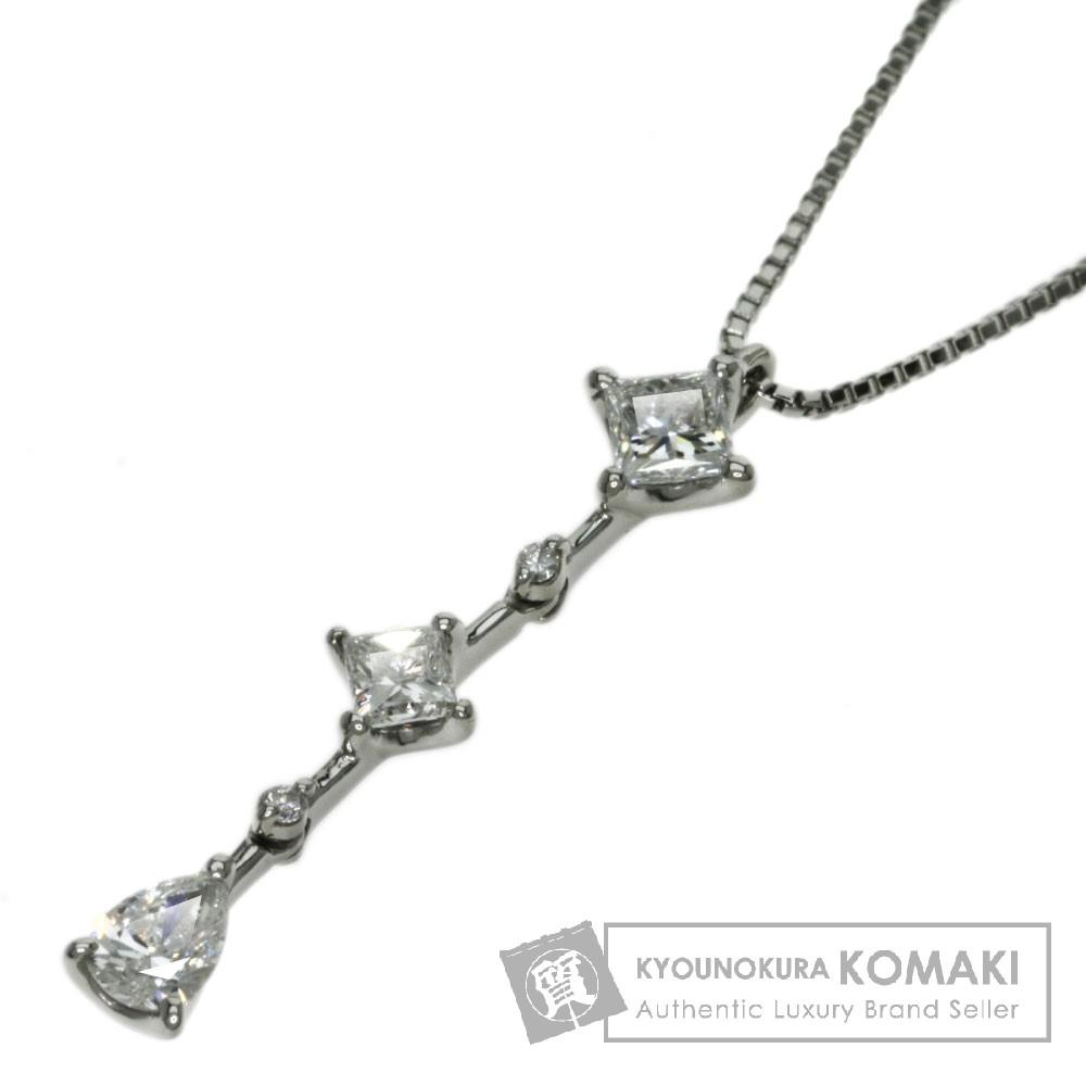 0.238ct ダイヤモンド ネックレス プラチナPT900/Pt850 3.7g レディース 【中古】