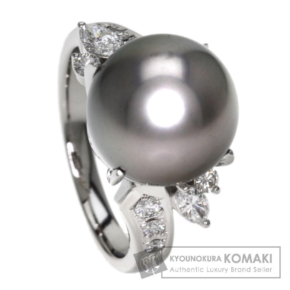0.35ct 真珠/ダイヤモンド リング・指輪 プラチナPT900 8.2g レディース 【中古】