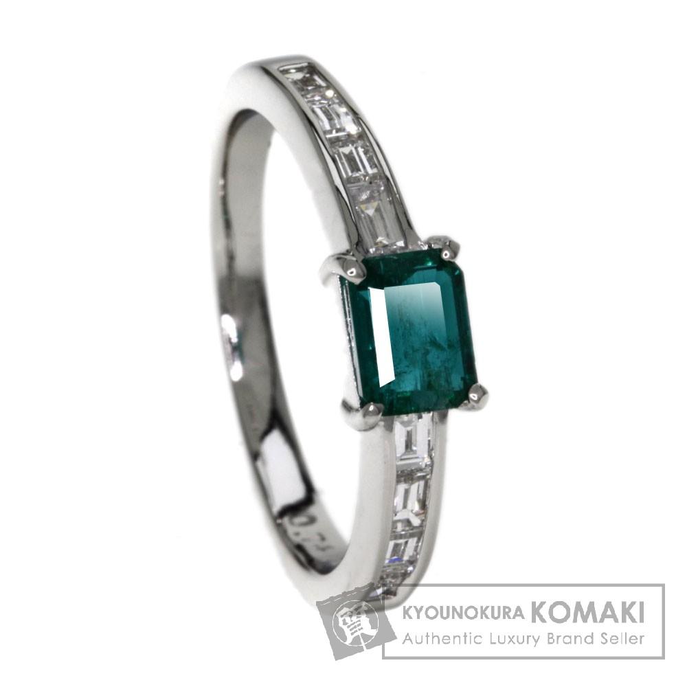 0.74ct エメラルド/ダイヤモンド リング・指輪 プラチナPT900 4.65g レディース 【中古】
