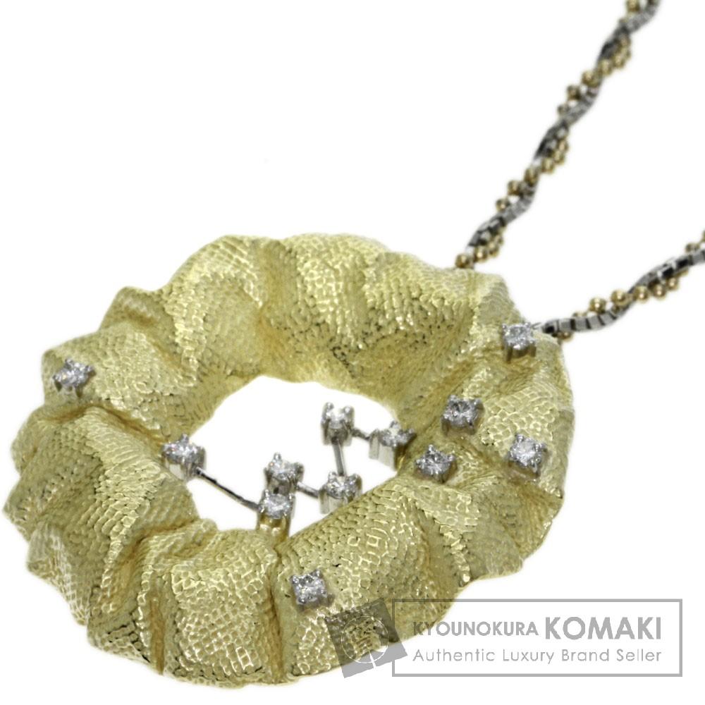 0.30ct ダイヤモンド ネックレス プラチナPT900/Pt850/K18YG 23.3g レディース 【中古】