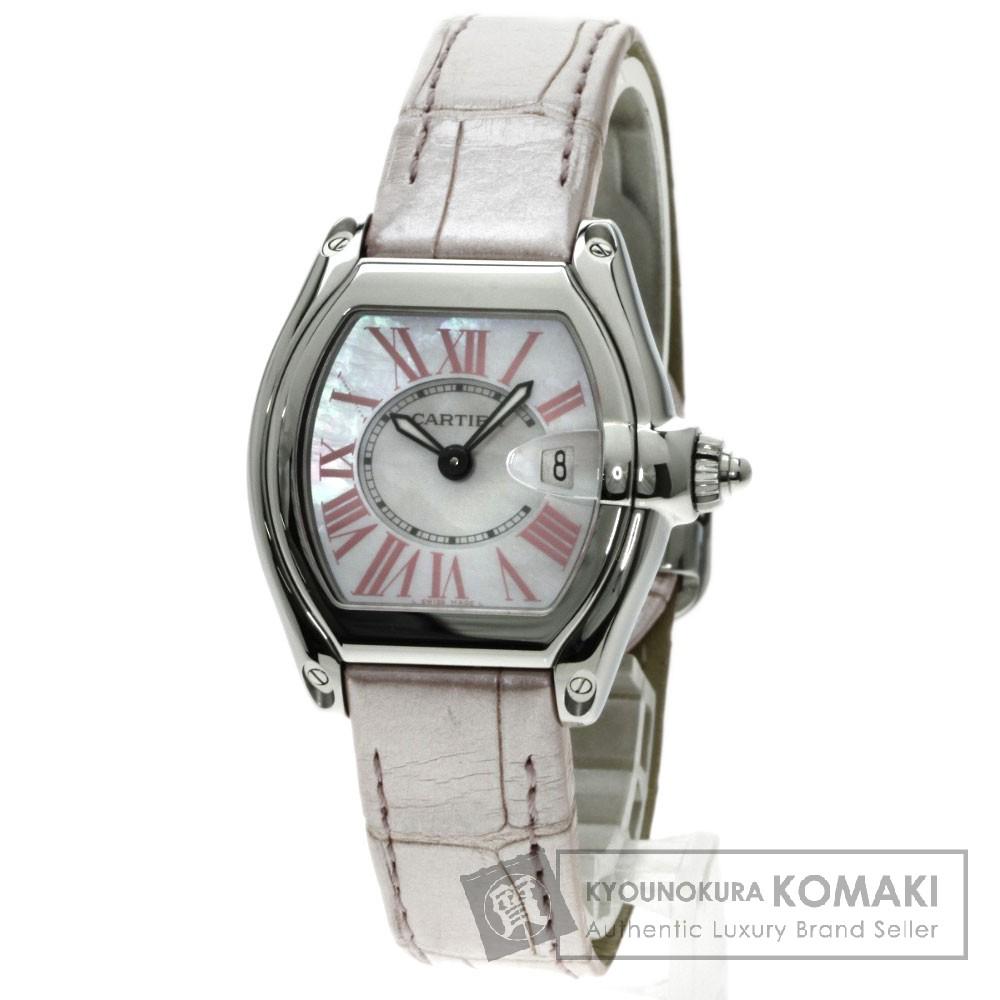 CARTIER W6206006 ロードスター 2008Xmasモデル 腕時計 /SS/アリゲーター レディース 【中古】【カルティエ】