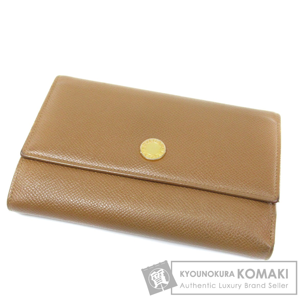 BVLGARI 三つ折り 二つ折り財布(小銭入れあり) レザー レディース 【中古】【ブルガリ】
