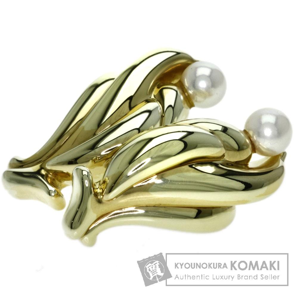 真珠 イヤリング K18イエローゴールド 12.3g レディース 【中古】