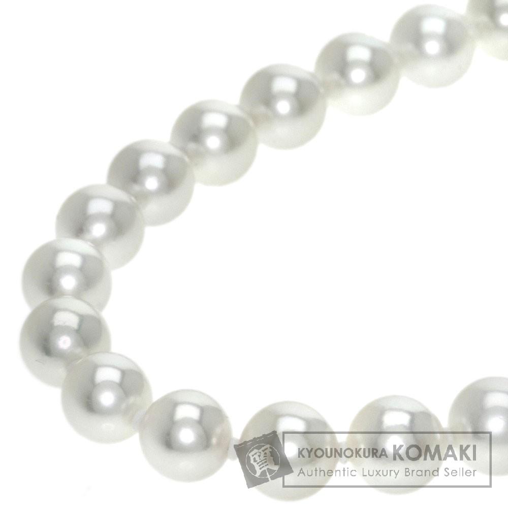 真珠 乳白色 ネックレス K18ゴールド 36.3g レディース 【中古】