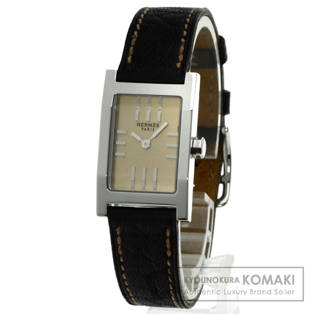 HERMES TA1.210 タンデム 腕時計 ステンレス/革 レディース 【中古】【エルメス】