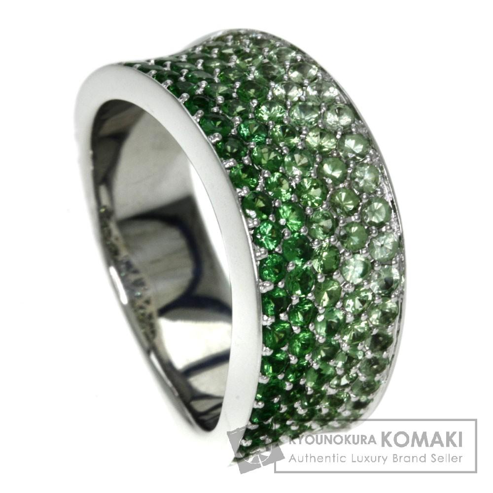 1.78ct ガーネット/ダイヤモンド リング・指輪 K18ホワイトゴールド 12.3g レディース 【中古】