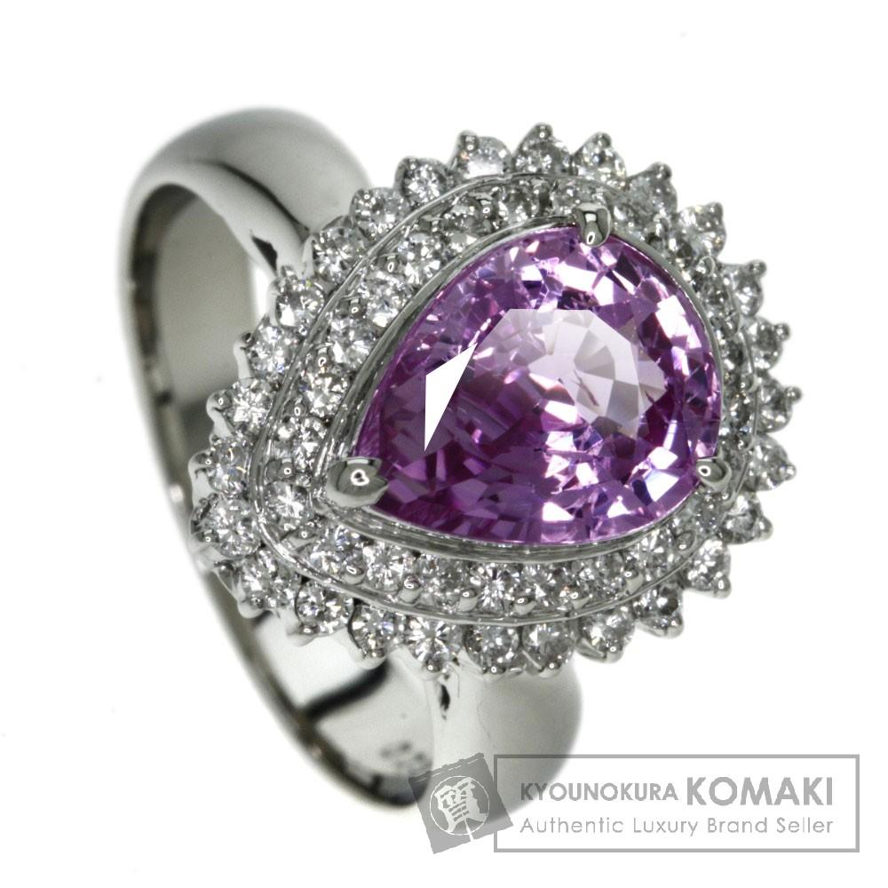 3.025ct ピンクサファイア/ダイヤモンド リング・指輪 プラチナPT900 10.9g レディース 【中古】