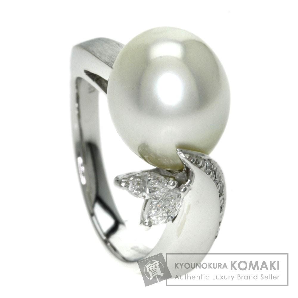0.31ct パール/真珠 ダイヤモンド リング・指輪 K18ホワイトゴールド 8.5g レディース 【中古】