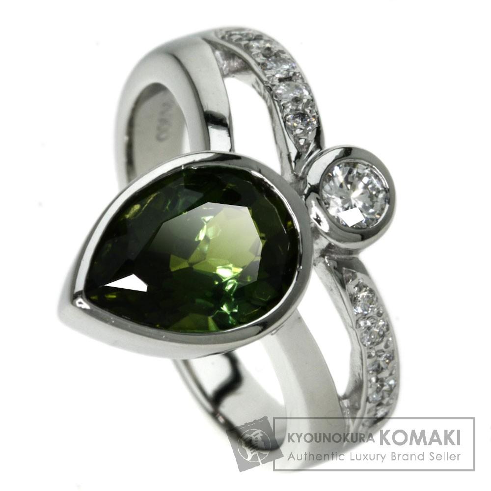 0.23ct トルマリン/ダイヤモンド リング・指輪 プラチナPT900 9.4g レディース 【中古】