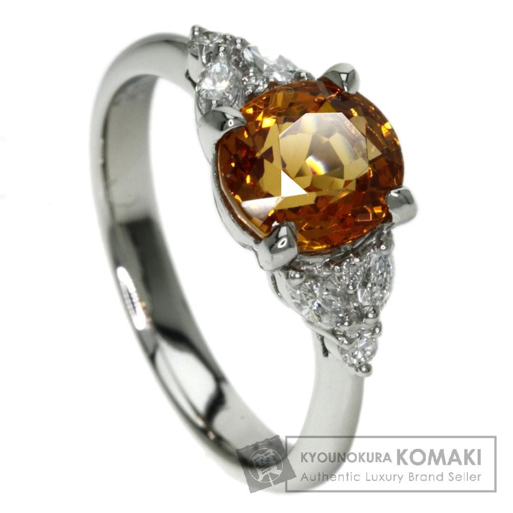 2.46ct スペサルティンガーネット/ダイヤモンド リング・指輪 プラチナPT900 5g レディース 【中古】
