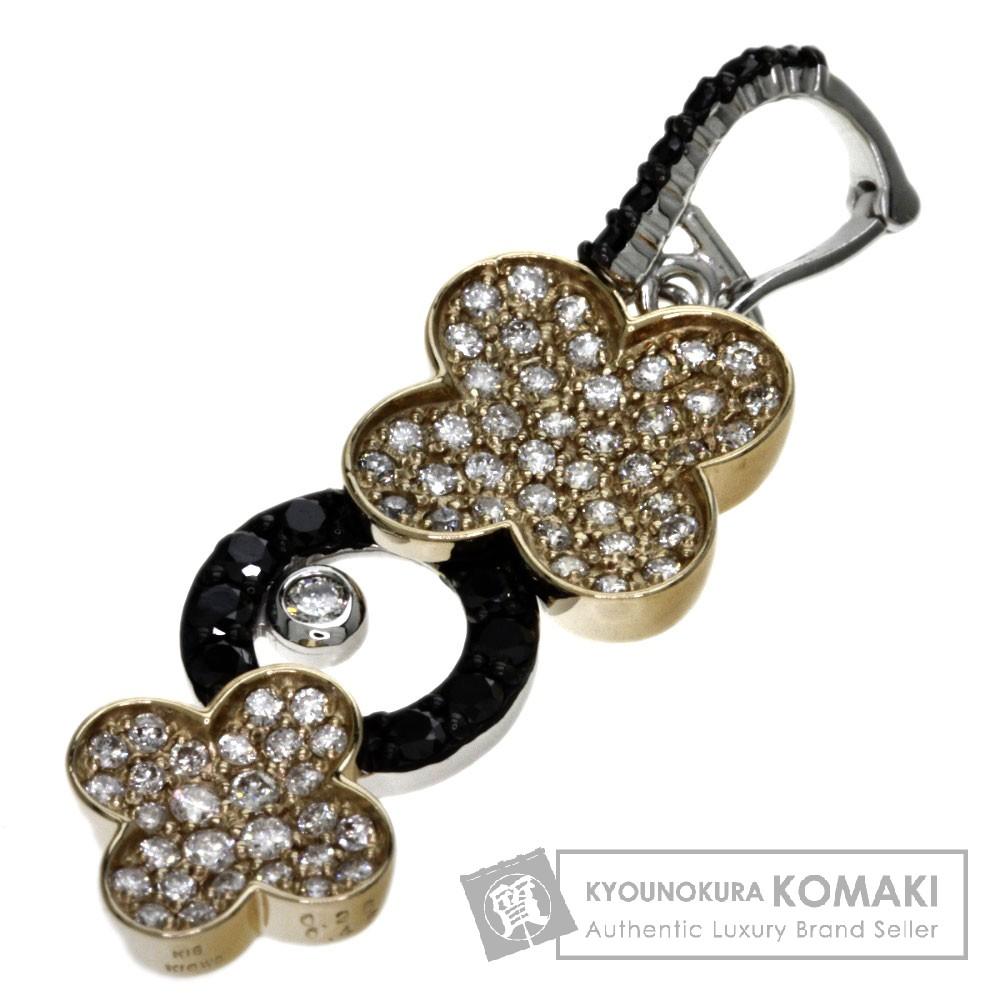 0.45ct ダイヤモンド ペンダント K18ピンクゴールド/K18WG 3.7g レディース 【中古】
