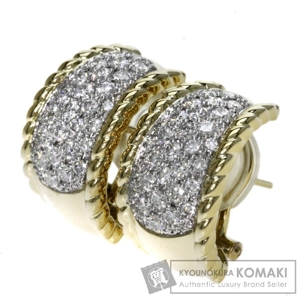 0.84ct ダイヤモンド ピアス K18イエローゴールド/K18WG 14.8g レディース 【中古】