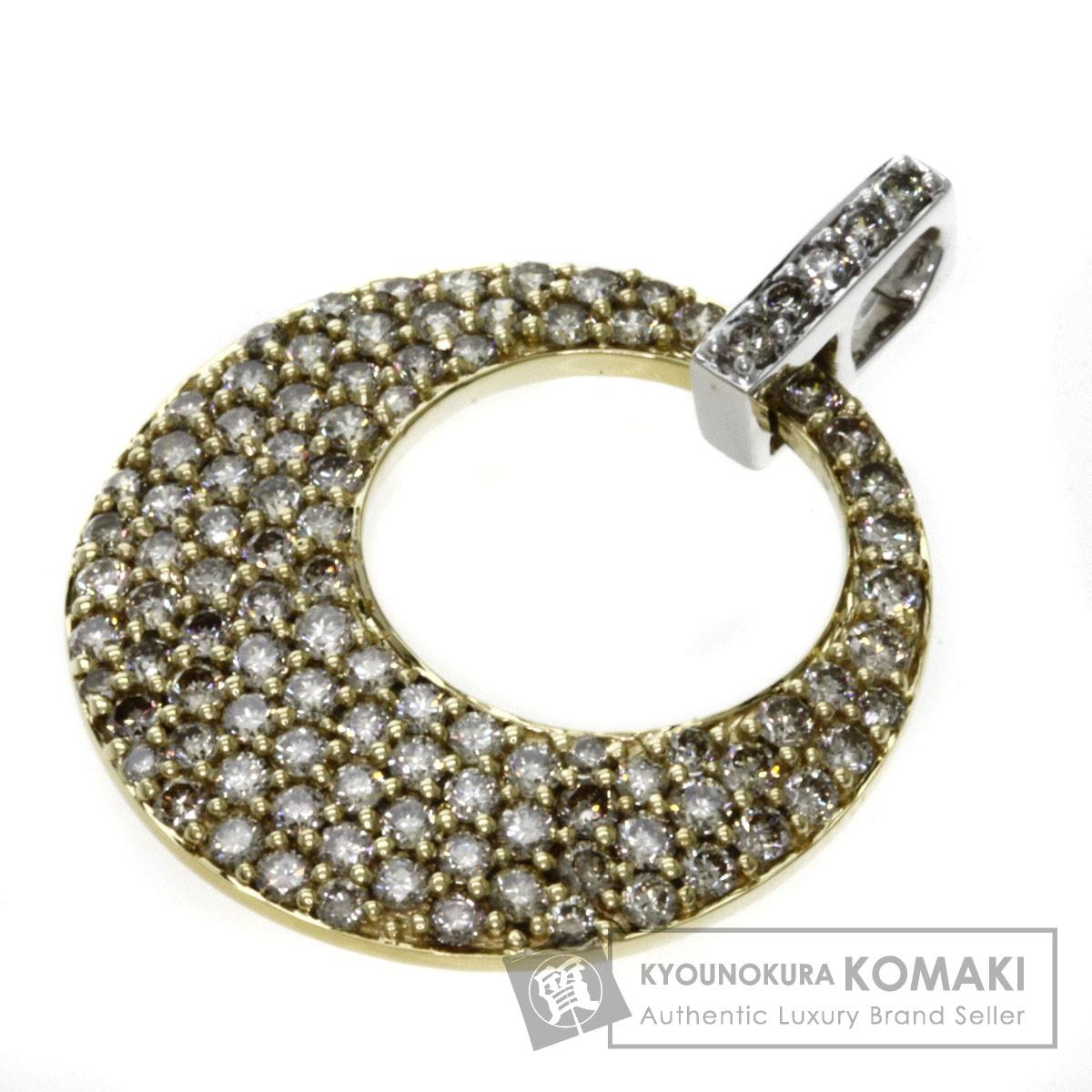 1.55ct ダイヤモンド ペンダント K18イエローゴールド/K18WG 4.3g レディース 【中古】