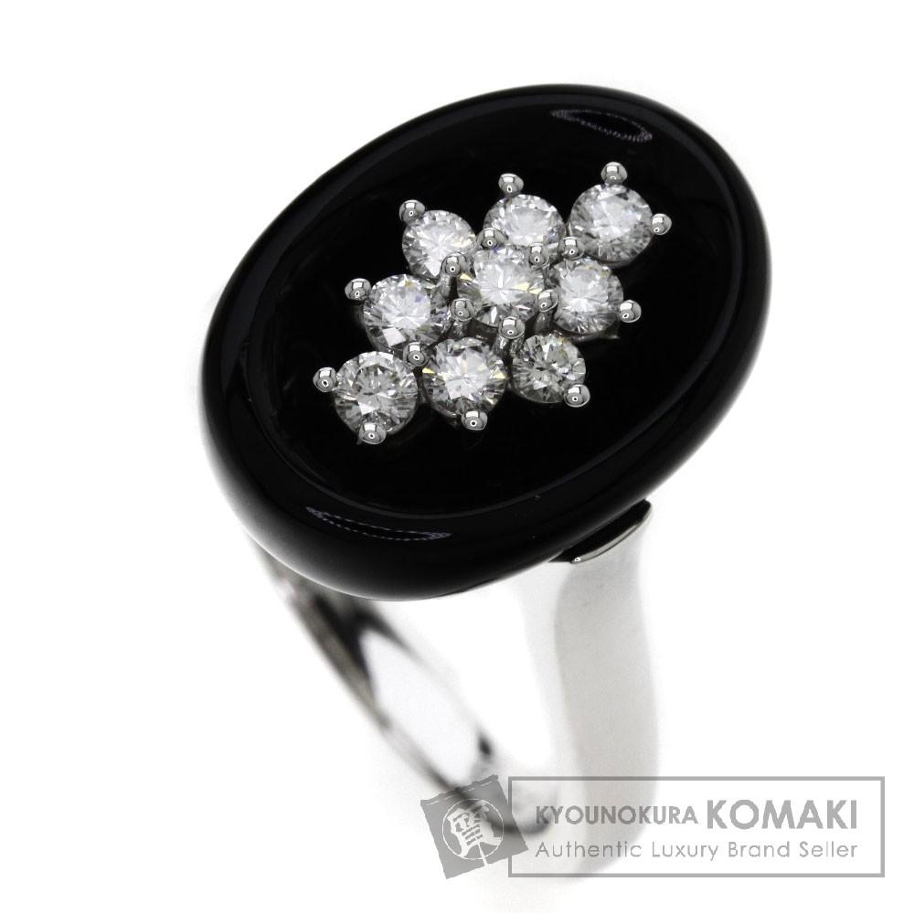 11.42ct オニキス/ダイヤモンド リング・指輪 K18ホワイトゴールド 9g レディース 【中古】