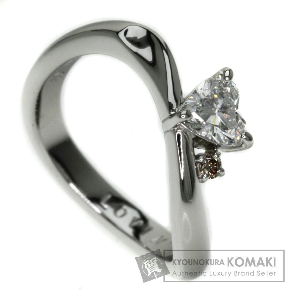 0.324ct ダイヤモンド ハート リング・指輪 プラチナPT950 4.7g レディース 【中古】