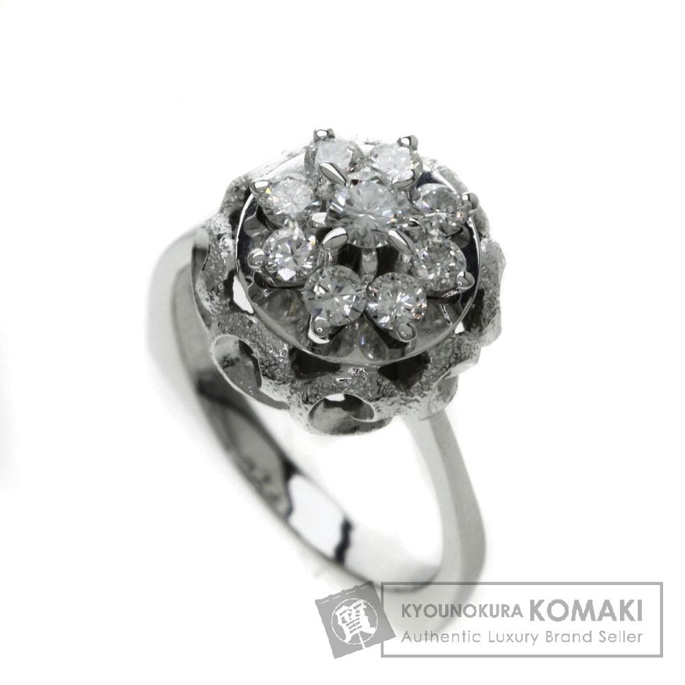 ダイヤモンド リング・指輪 K18ホワイトゴールド 7.2g レディース 【中古】