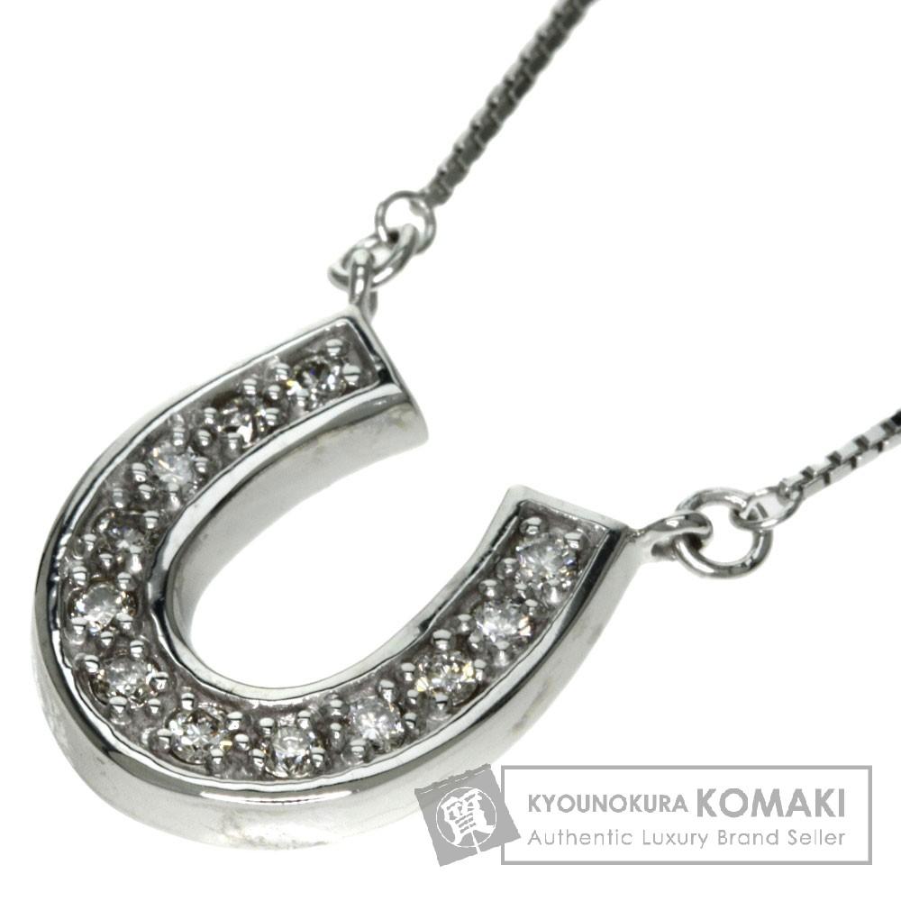 POLA ダイヤモンド ネックレス K18ホワイトゴールド レディース 【中古】【ポーラ】