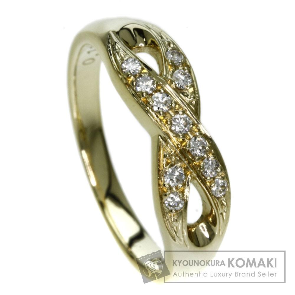 MIKIMOTO ダイヤモンド リング・指輪 K18イエローゴールド レディース 【中古】【ミキモト】