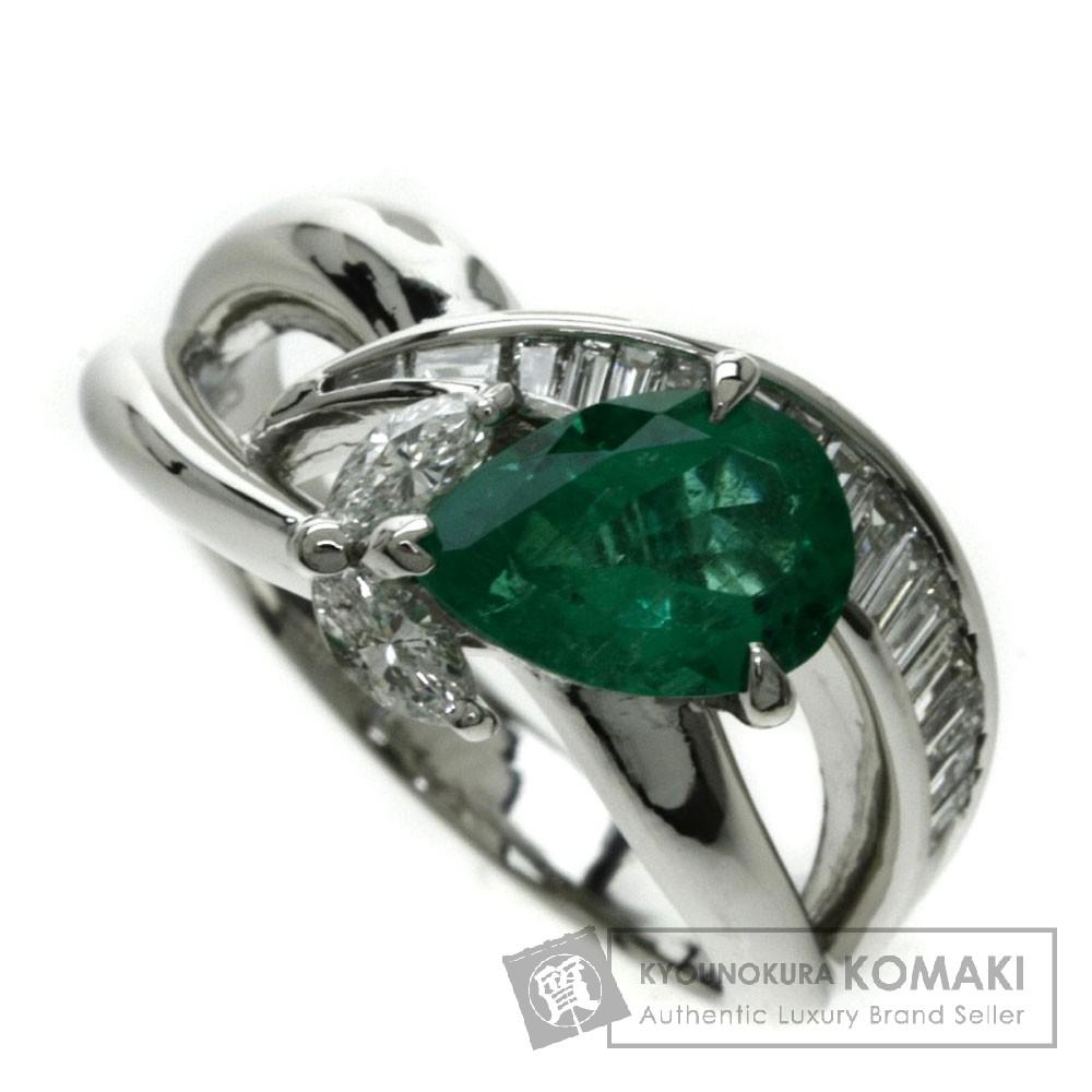 1.43ct エメラルド/ダイヤモンド リング・指輪 プラチナPT900 10.3g レディース 【中古】
