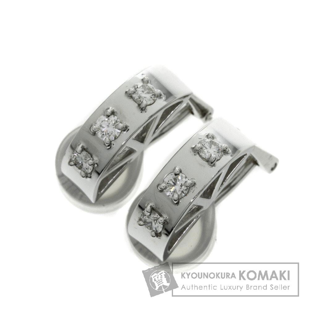 WAKO ダイヤモンド イヤリング K18ホワイトゴールド/K14WG レディース 【中古】【ワコー】