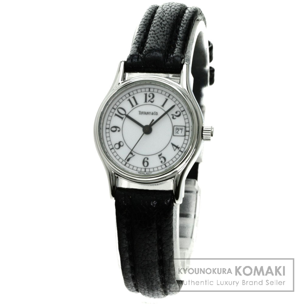 TIFFANY&Co. ラウンド 腕時計 ステンレス/革 レディース 【中古】【ティファニー】
